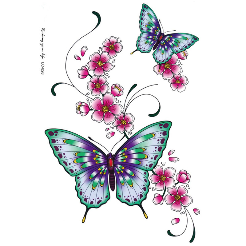 Vintage Butterfly Tattoos 48