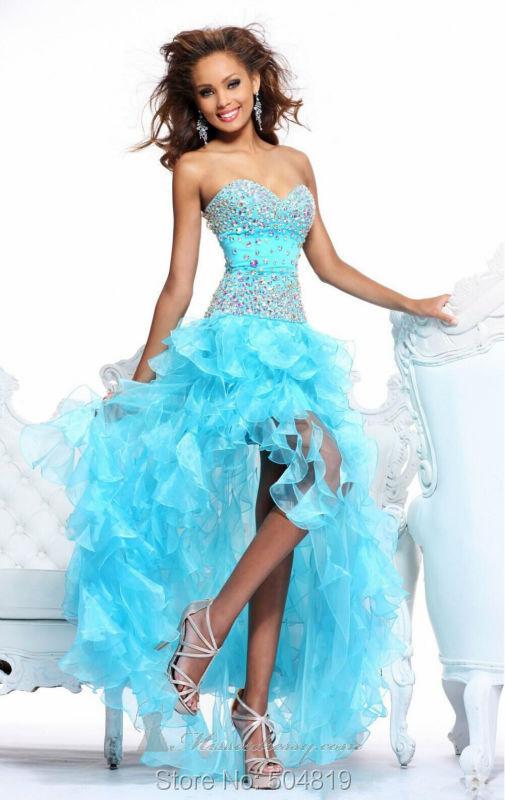 Blue prom dress debs