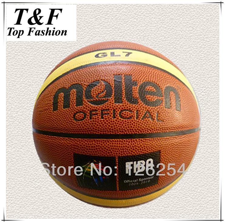 Free Shipping Size7 Molten GL7 Basketball Hight Quality PU Leather Basketball Ball With Free Gift Of ball pump+net bag+pins(China (Mainland))
