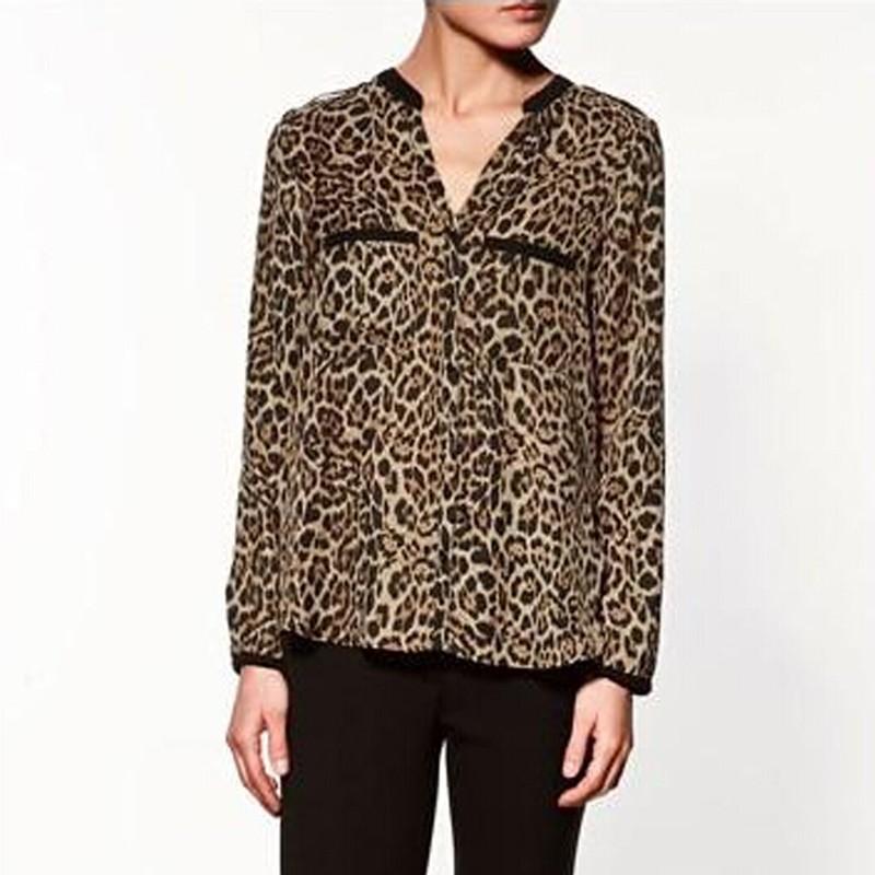 Блузка С Леопардовым Принтом В Новосибирске
