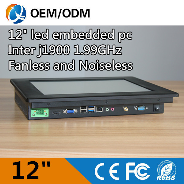 "Black tablet pc 12.1"" fanless industrial pc touch screen industry pc Inter j1900(China (Mainland))"