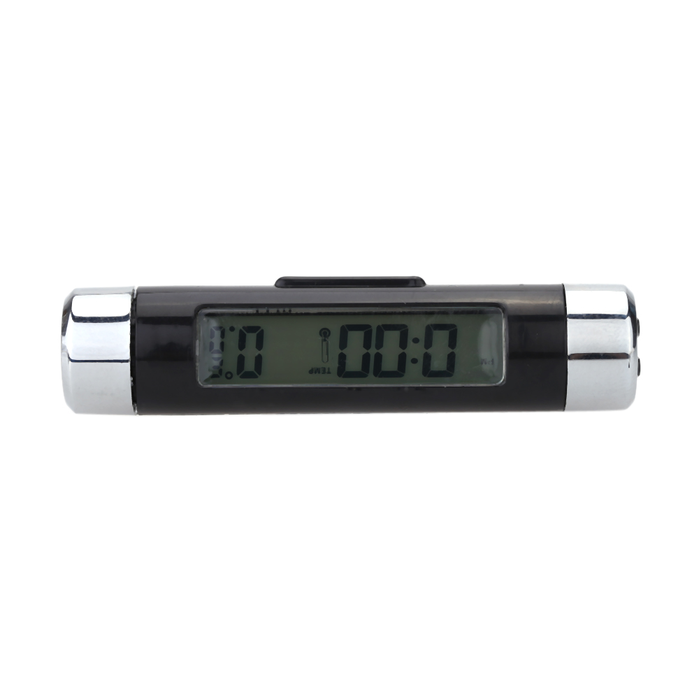 Mini Digital Indoor Car Use Thermometer Temperature Measuring Meter Blue Backlight Time Dislplay(China (Mainland))