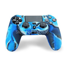 Silicone Skin Case For SONY Playstation 4 PS4 Dualshock 4 Controller Camouflage BLUE