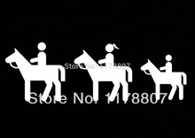50 pcs lot Horse Riding Family Decal Sticker For Car Window Truck SUV Bumper font b
