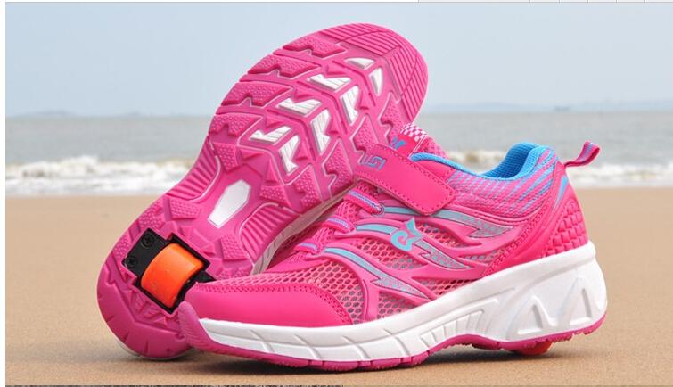 Child heelys Jazzy Junior girls boys roller shoes children EU Size 30-41 wheel breathable rollerskate