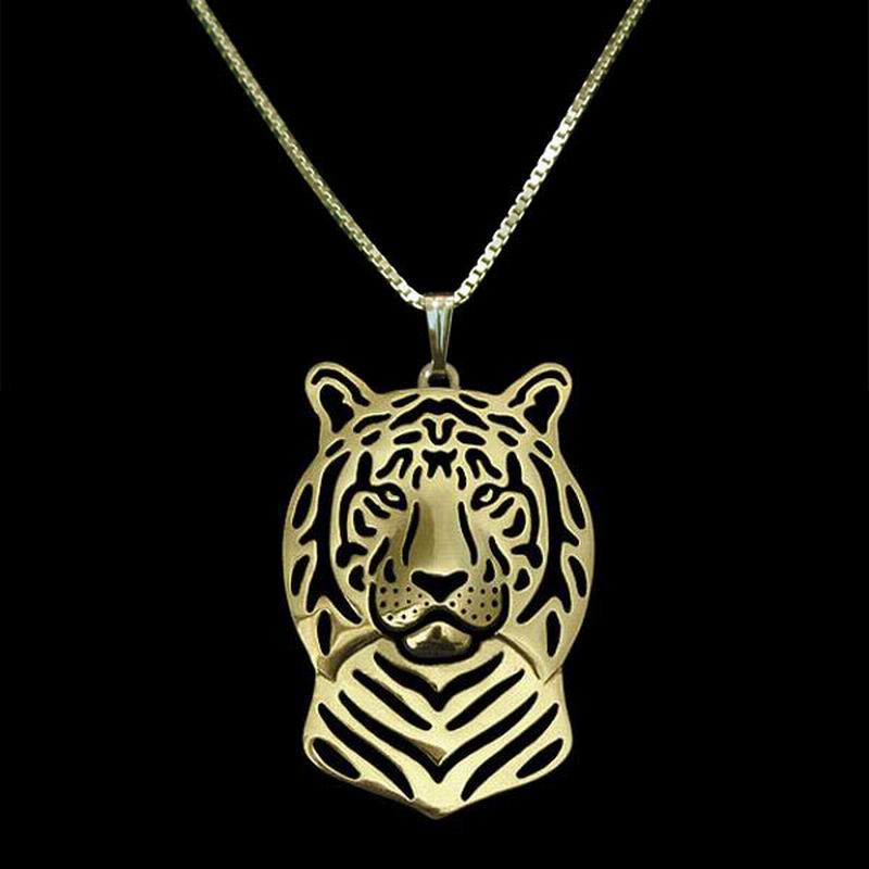 2016 Hot Sale Jewelry Animal Tiger Shaped Necklaces Tiger Head Pendant Necklaces For Women Drop Shipping(China (Mainland))