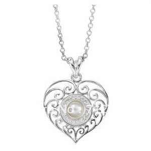 DIY heart pendant,Filigree heart pendant necklaces for Kameleon Jewelry ( insert jewelpop not including )(China (Mainland))