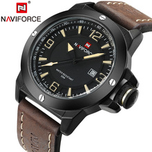 Buy New Mens Watches Top Brand NAVIFORCE Luxury Men Quartz Watch Casual Sport Military Watches Male Leather Clock Relogio Masculino for $17.99 in AliExpress store