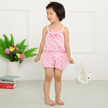 Wholesale baby clothes polka dots jumpsuit for baby clothing pink white KP-JPS03(China (Mainland))