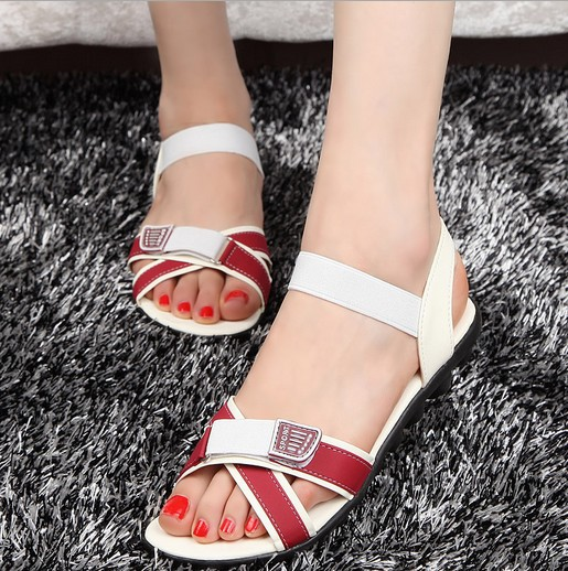 Free Shipping Brand Sandal shoes woman sandals Patchwork Sliper Fashion Rubber Casual Women's Sandals HR022(China (Mainland))