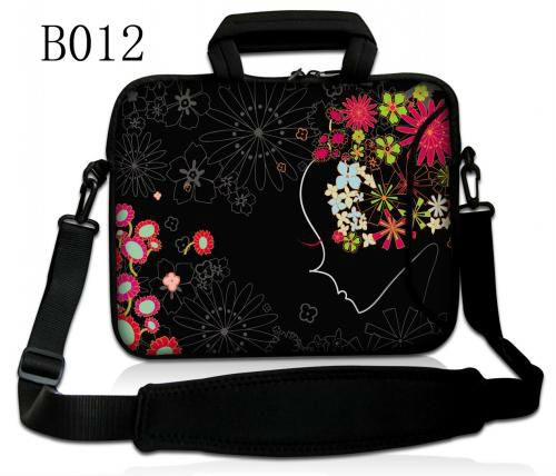 "Sunflower Girl 14"" Laptop Shoulder Case Bag For Alienware M14x Dell Inspiron 14R 14Z Asus U47A Macbook Pro 15 Retina Display(China (Mainland))"