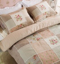 Bedding 100% cotton quilting rustic three piece set bed cover quilt air conditioning towels(China (Mainland))