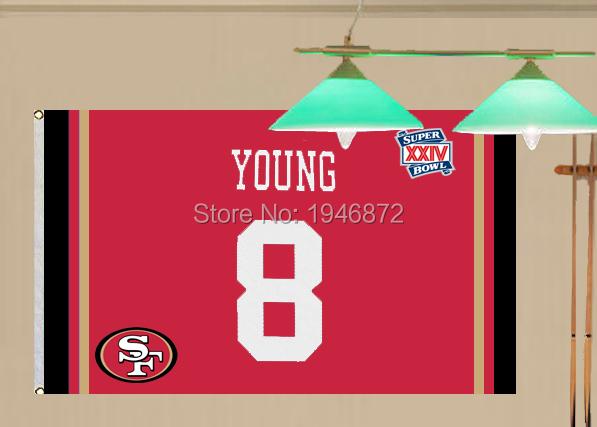 San Francisco 49ers Steve Young Fan Flag 3X5FT(China (Mainland))
