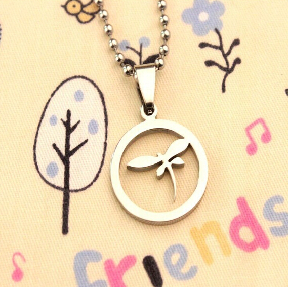 2015 New Products Stainless Steel Small Pendant New Design Dragonfly Necklace Cute Insect Jewelry(China (Mainland))
