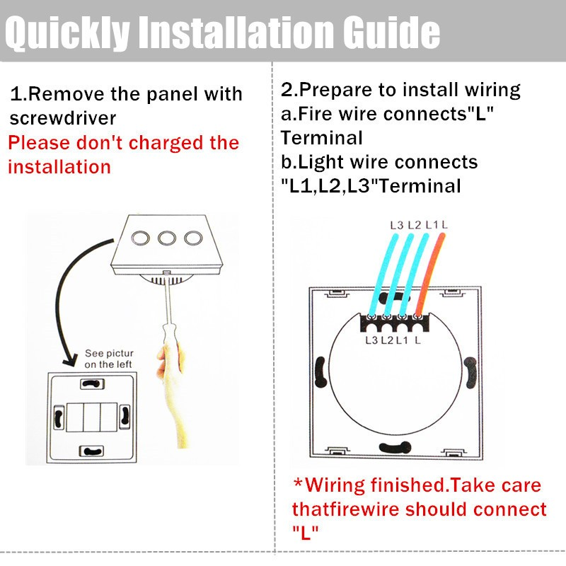 image for EU Remote Control Switch 1 Gang 1 Way, RF 433Mhz Smart Switch Wall, Wi