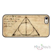 Harry Potter Quote Deathly Hallows back skins mobile cellphone cases for iphone 4/4s 5/5s 5c SE 6/6s plus ipod touch 4/5/6