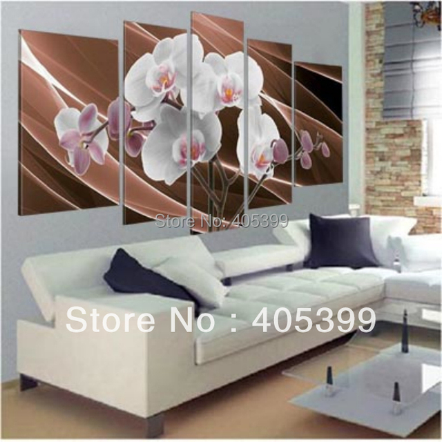 Orchid Flower Handmade  Modern Abstract  Oil Painting Canvas  Wall Art ,Home Decoration  Wedding Gifts Canvas Painting.JYJHS002
