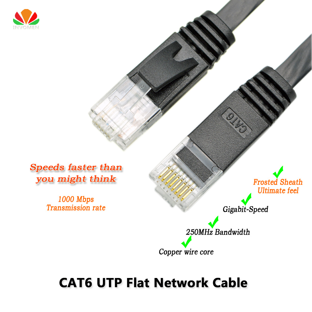 6ft 2m CAT6 Ethernet cable flat UTP CAT6 network cable Gigabit Ethernet Patch Cord RJ45 network twisted pair Lan cable for GigE(China (Mainland))
