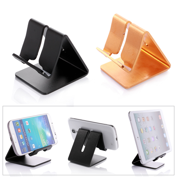 Universal Aluminum Metal Mobile Phone Charging Dock Stand Tablet Desk Holder for iPhone 6 6S Plus(China (Mainland))