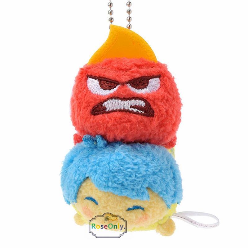 Tsum Tsum Mini Original Plush Toys.Tsum Tsum double plush keychain Christmas Jack Inside Out Sadness Joy Disgust for children(China (Mainland))
