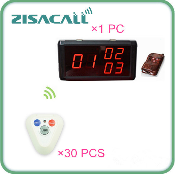 Wireless Restaurant Pager System waiter service call button and number LED display pannel(China (Mainland))
