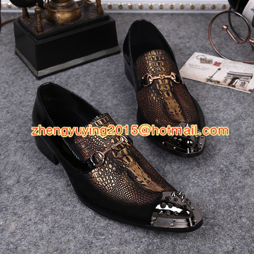 Hot Sale Men Dress Shoes Vintage Metal Toe Rivets Pointed Toe Zapatos Hombre Fashion Business Oxford Shoes For Men Loafers<br><br>Aliexpress