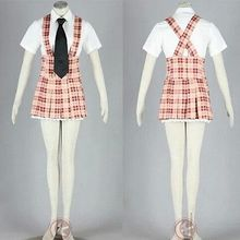 Axis Powers APH W Cosplay Costume Fashion Student Uniform font b Tartan b font Braces Shirt