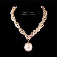 New 2015 Hot-Selling  Popular Fashion Jewelry Luxury Large Pearl Korean Fashion Rhinestone Necklaces &Pendant Necklaces N1674(China (Mainland))