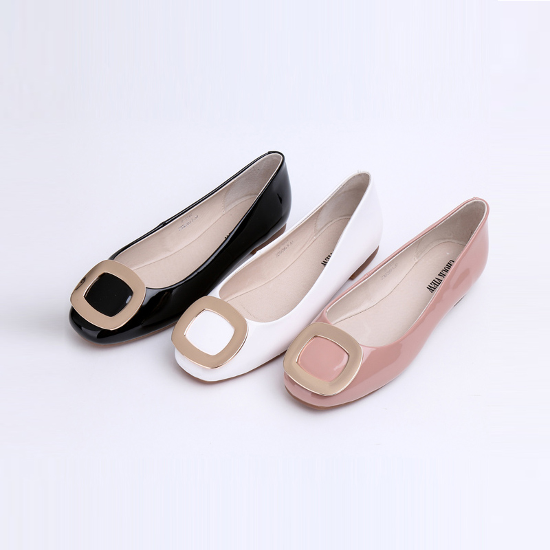 3 Colors Cute Wide Flat Shoes Leather Italian Flat Ballet Ladies Loafers Online Women Merrill Office Walking Shoes Boat Stores(China (Mainland))