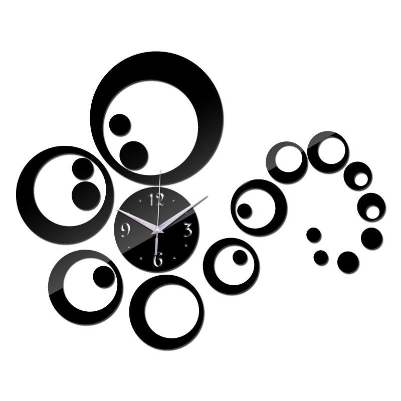 2015 hot sale acrylic mirror stickers watch diy wall clock clocks Home Decoration Quartz Living Room Large table free shipping(China (Mainland))