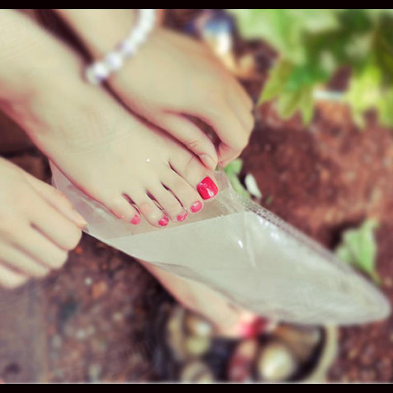 1Packs=2pcs Foot Callus Vinegar peeling renewal remove dead skin Cuticles Heel smooth exfoliating feet mask care sticker(China (Mainland))