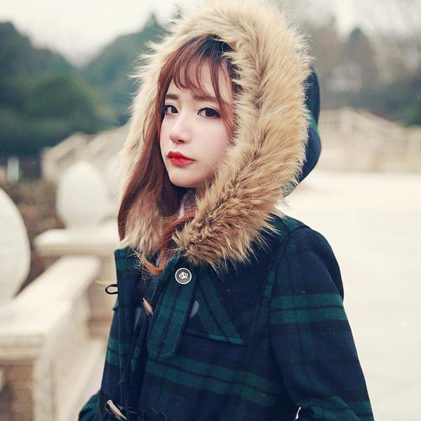 Принцесса сладкий лолита пальто Bobon21 эксклюзивный дизайн институт ветер любовь палкой мех енота пальто с капюшоном сетки C1323