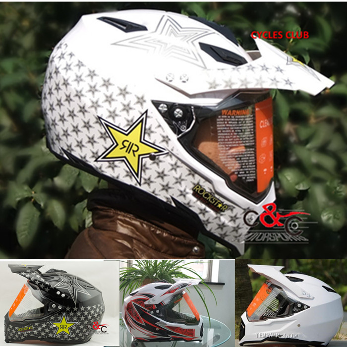 Фотография the china free shipping casco capacete off road man women motorcycle helmet racing scooter motorcross helmet with shield glass