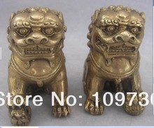 Buy bh 003 ship China Brass Bronze Foo Dog Lions Statue ONE PAIR for $28.41 in AliExpress store