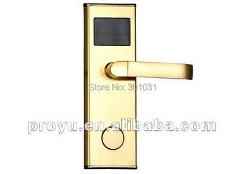 Popular selling RF Stainless Steel Hotel Door Lock PY-8011-1  ID/ EM