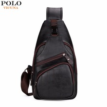 Buy VICUNA POLO Extra Large Size Fashion Mens Shoulder Bag Burglarproof Snapper Black Leather Mens Messenger Bag Travel Chest Bag for $20.69 in AliExpress store