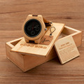 BOBO BIRD Brand Wooden Men watches Quartz Analog Watch Genuine Leather Strap Bamboo Watch with Wood