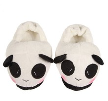 Women Indoor Home Slipper Cute Panda Warm Soft Plush Antiskid Shoes 2 colors One Size Fit All