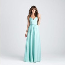 Affordable Chiffon Long Bridesmaid Dresses Mint Green Maid of Honor Dresses Cheap V Neck Dresses For Wedding Backless maxi dress(China (Mainland))