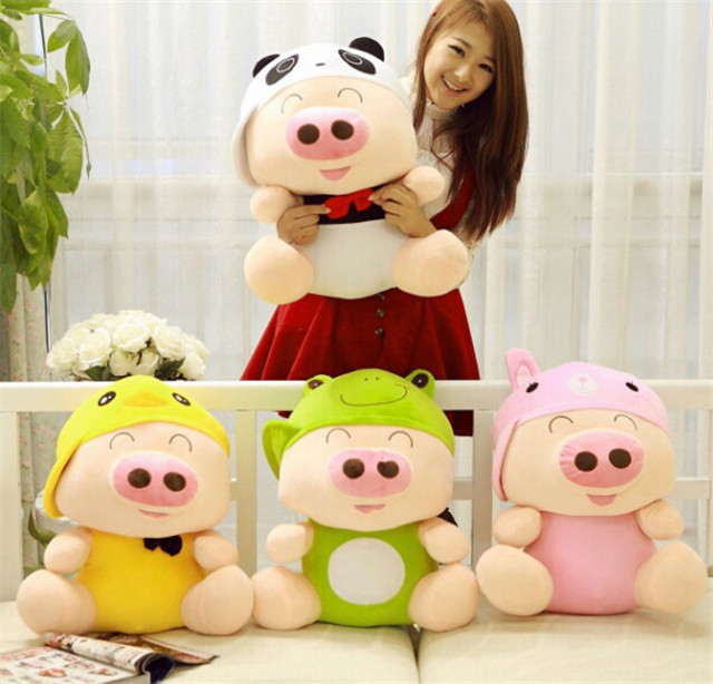 Pig plush toy doll cute styling / plush toys PP cotton filling toys for birthday Present(China (Mainland))
