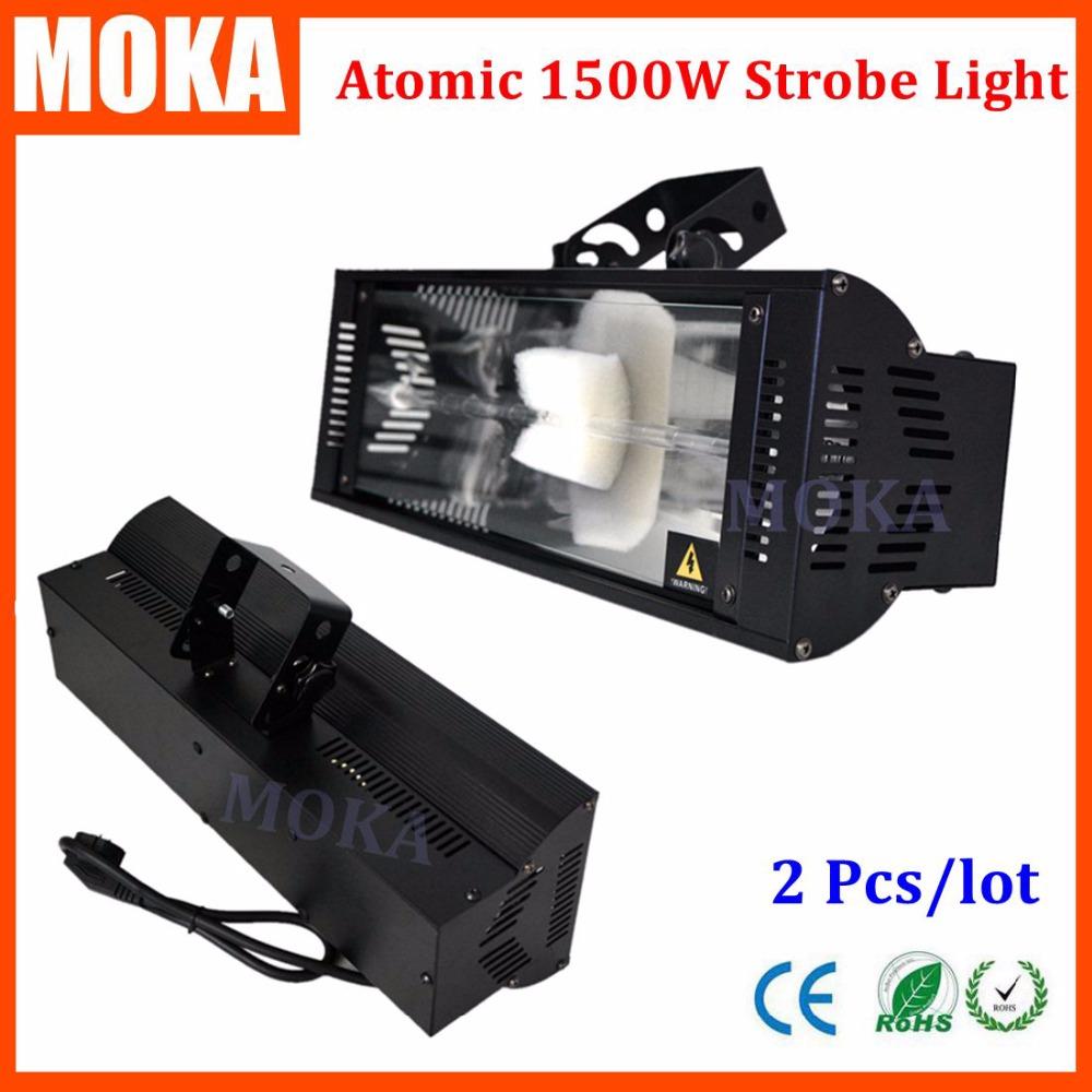 2 Pcs/lot Super bright 1500W DMX Strobe Light disco dj effect DMX flash light 2channels long-life Xenon lamp strobe light(China (Mainland))
