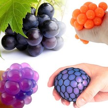 Buy 2017 Anti Stress Face Reliever Grape Ball Squeeze Relief Healthy Fashion Funny Tricky Toys Random delivery X6 for $1.80 in AliExpress store