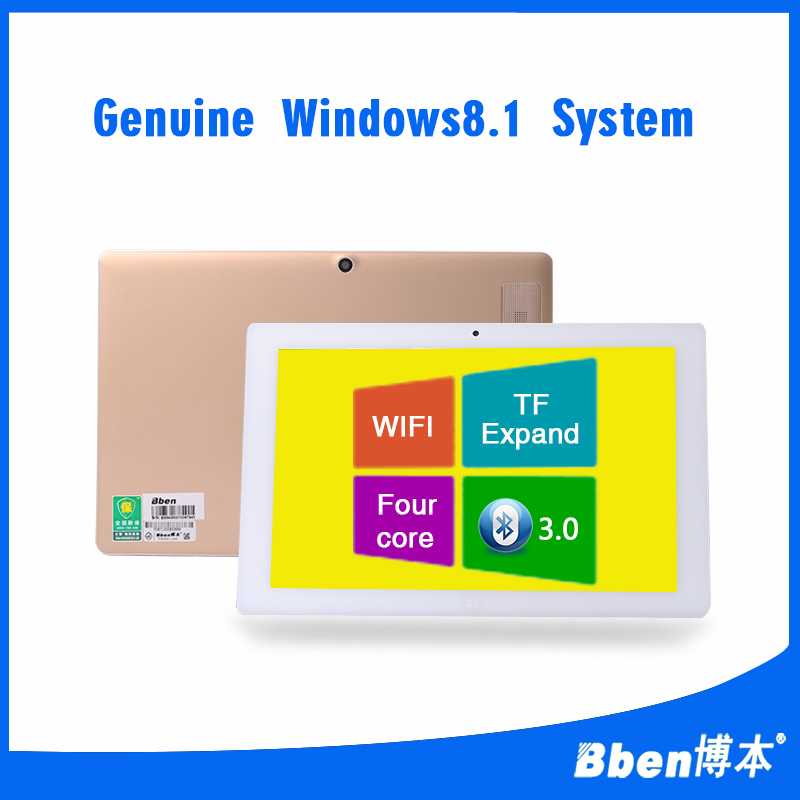 Original Bben Golden Tablet PC Ultrabook 10.1 inch IPS 1280x800 Windows 8.1 Quad Core Max 1.33GHz 2GB RAM 64GB ROM Dual Camera<br>