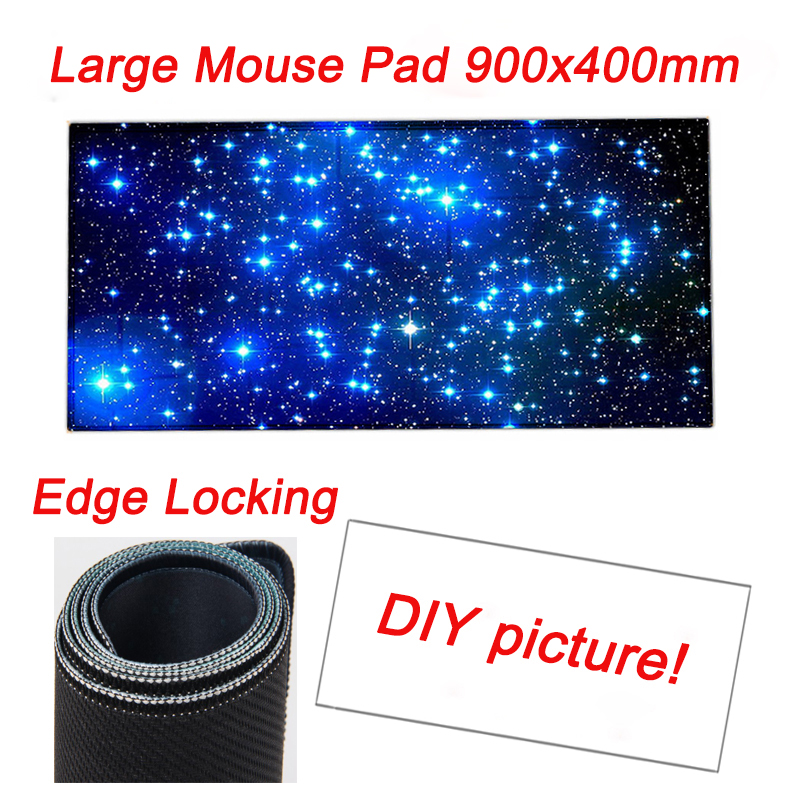 OEM Large Game Mouse Pad 900*400 high quality DIY picture with edge locking