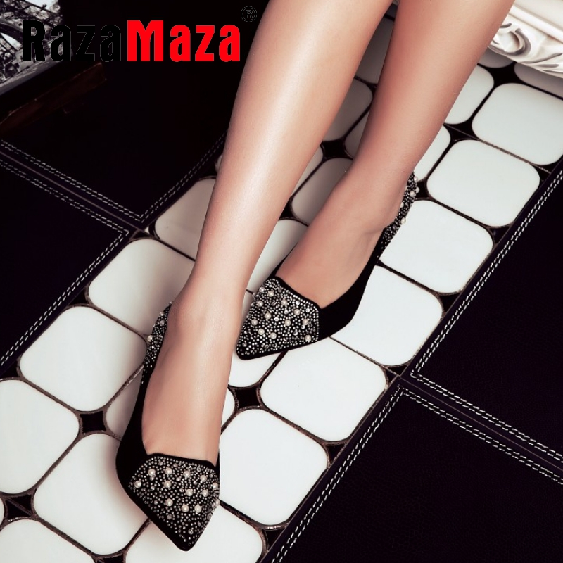women real genuine leather stiletto spring party high heel shoes brand sexy fashion pumps ladies heeled shoes size 34-39 R5863<br><br>Aliexpress
