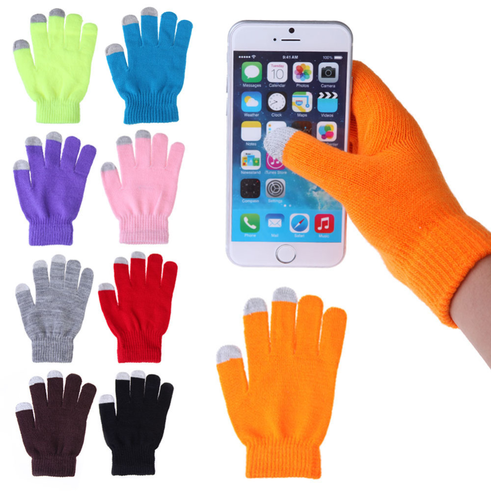 Гаджет  Women Men Touch Screen Soft Cotton Winter Gloves Warmer Smart For All phones Tablet Pad Several Colors Free Shipping None Одежда и аксессуары