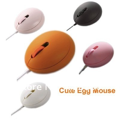 Free shipping/2pcs per lot/Super Cute 3D Optical Egg Mouse/Mini size/Wholesale and retail(China (Mainland))