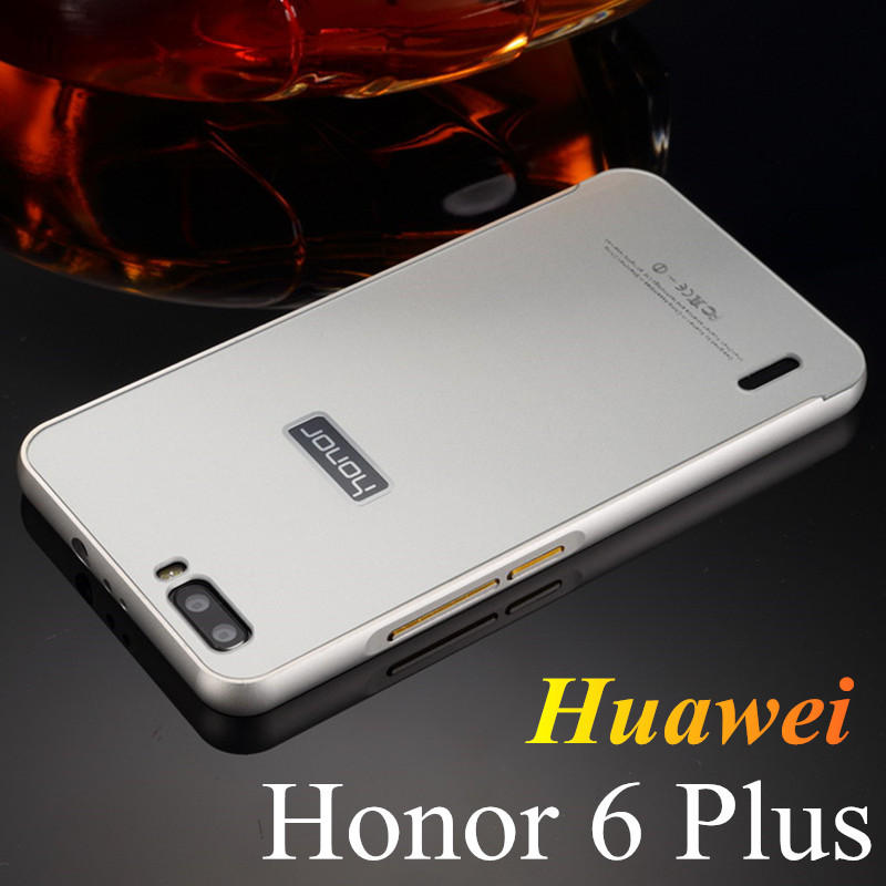 Luxury Huawei Honor 6 Plus Aluminum Case For Huawei Honor 6 Plus Metal Frame + Acrylic Back Cover For Honor6 Plus Phone Shell(China (Mainland))