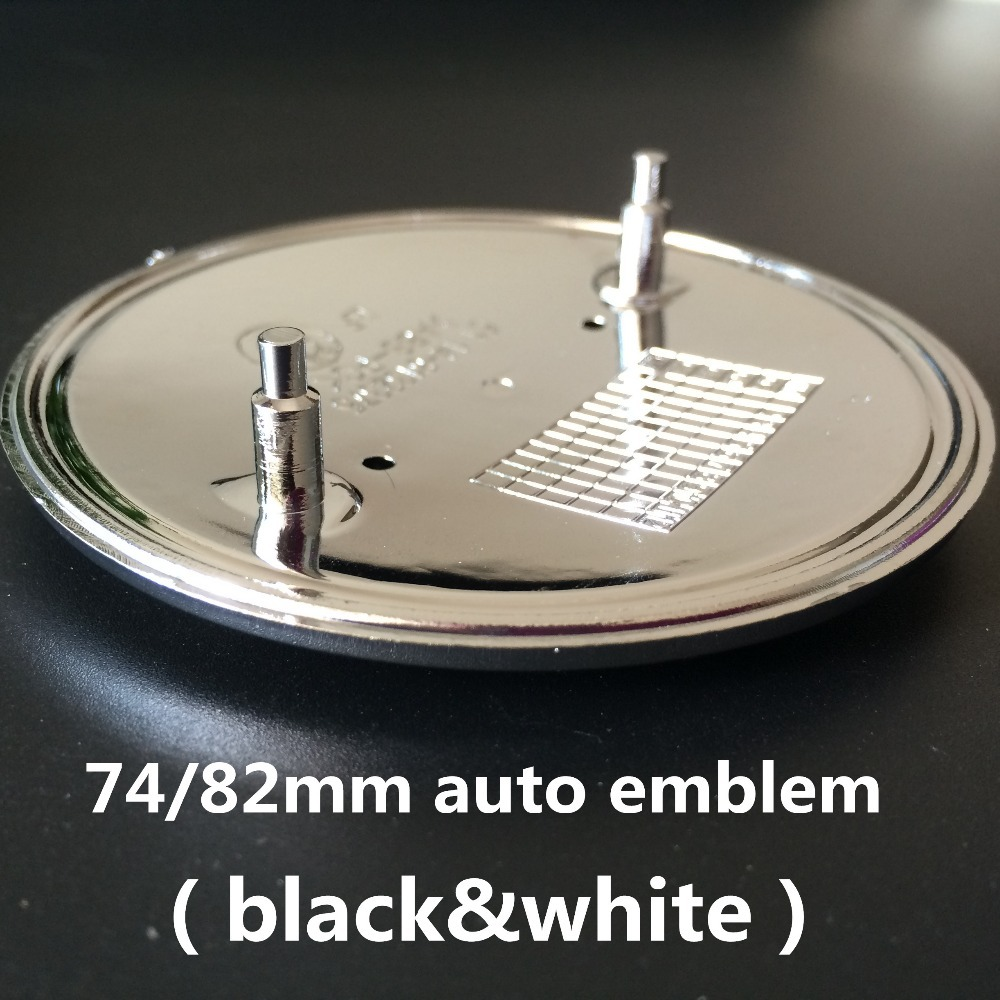 High quality 10pcs 82mm/74mm Black&White front rear hood badge car emblem for m3 m5 X1 X3 X5 E36 E39 E46 E30 Car Accessories(China (Mainland))