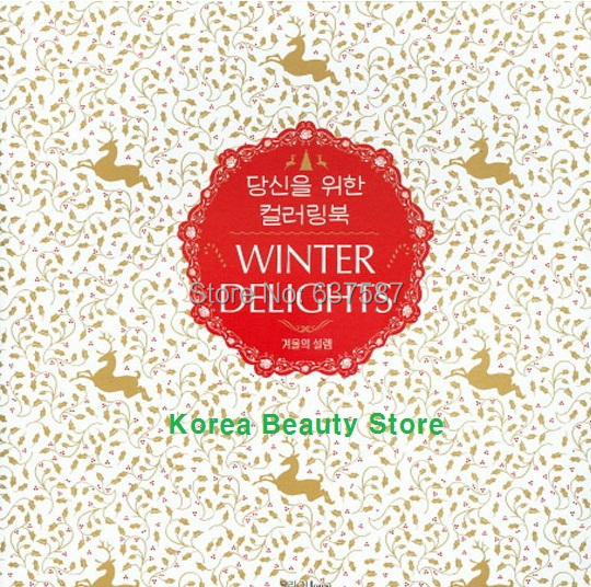 Anti-stress coloring book name winter Delights coloring books free shipping<br><br>Aliexpress